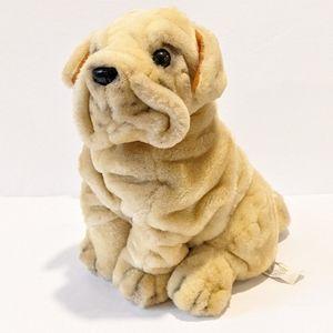 "Chinese Shar Pei plush dog 10"""